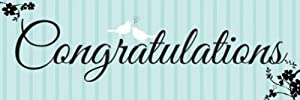 Creative Converting Two Love Birds Giant Congratulations Party Banner, 20 X 60 Inches from Creative Converting