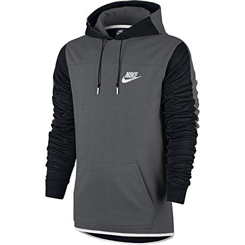 Nike Men's Sportswear Advance 15 Pullover Hoodie Dark Grey/Black/White Medium