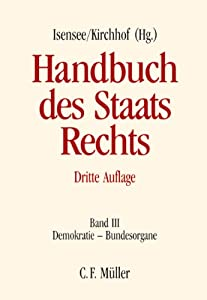 handbuch des staatsrechts der bundesrepublik deutschland handbuch des staatsrechts band iii. Black Bedroom Furniture Sets. Home Design Ideas