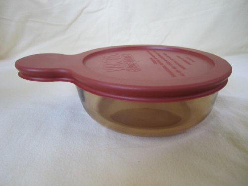 Corning Visions Amber Heat 'N' Eat Grab-It W/ Plastic Lid V-150-B