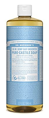 Dr. Bronner's Fair Trade & Organic Castile Liquid Soap - (Baby Unscented, 32 oz)