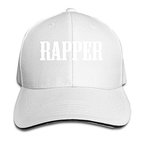 rapper-unisex-100-cotton-adjustable-baseball-caps-white-one-size