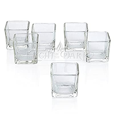 Clear Glass Votive Candle Holders Set of 12