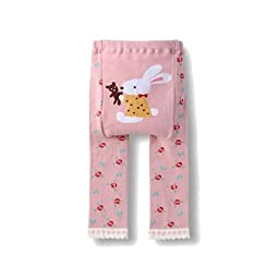Wrapables Baby & Toddler Leggings, Bunny and Teddy Bear - 12 to 24 Months