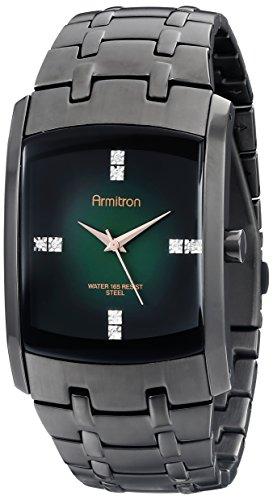 Armitron Men's 20/4507GNDG Swarovski Crystal-Accented Stainless Steel Watch
