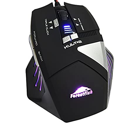 SHINICE® 4000 DPI 8 Mouse Buttons Gaming Mice with 8 Programmable LED Optical USB Wired Gaming Mouse