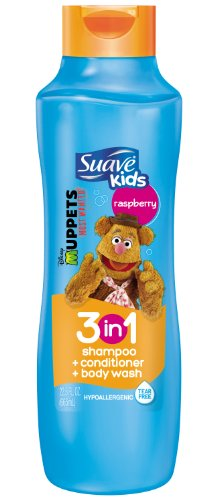 Suave Kids 3 In 1 Shampoo Conditioner And Body Wash, Razzle Dazzle Raspberry, 22.5 Ounce (Packaging May Vary)