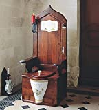 Herbeau 550121 Avesnes Dagobert DAGOBERT TOILET THRONE Wooden