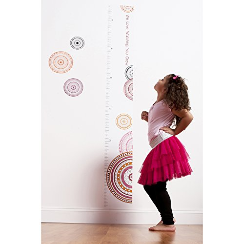 One Grace Place Sophia Lolita Growth Chart Decal, White, Pink, Berry, Orange, Black - 1