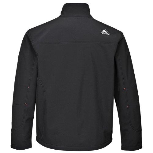 COX SWAIN Herren 3-Lagen Outdoor Softshell Jacke Alto - 8.000mm Wassersäule - 2.000mm atmungsaktiv, Farbe: Black, Größe: XL -