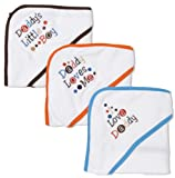 Frenchie Hooded Towels, 3 Pack, Daddys Boy