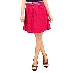 SFDS Women's Pink Cotton Skirt