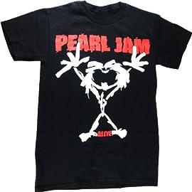 Pearl Jam 'Stickman' 2-sided black t-shirt