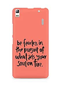 AMEZ be fearless i the pursuit Back Cover For Lenovo K3 Note