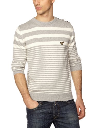 Voi Jeans Glazed Men's Jumper Grey Marl/Egret XX-Large