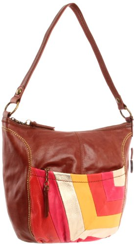 The SAK Iris LG Hobo,Warm Stripe,One Size