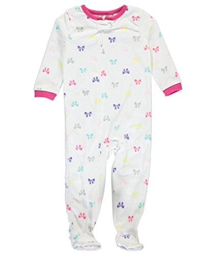 carters-little-girls-toddler-sprinkled-bows-footed-pajamas-white-5t