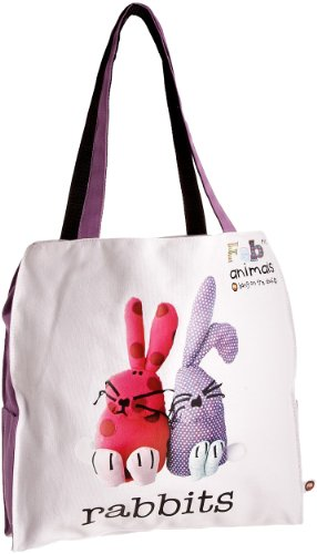 Fabric Animals Women's Rabbits Tote Bag