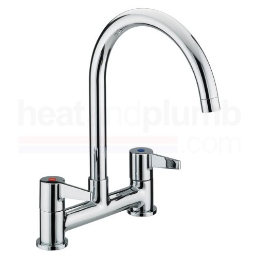 Bristan Design Utility Lever Deck Sink Mixer Tap Chrome Plated