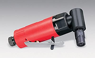 Dynabrade 18011 .2 hp (149W) Autobrade Red Right Angle Die Grinder, 20000 rpm, Rear Exhaust, 6mm Collet