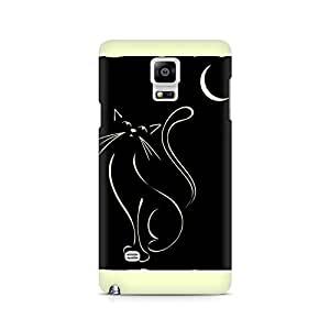 Ebby Lazy Night Cat Premium Printed Case For Samsung Note 4 N9108
