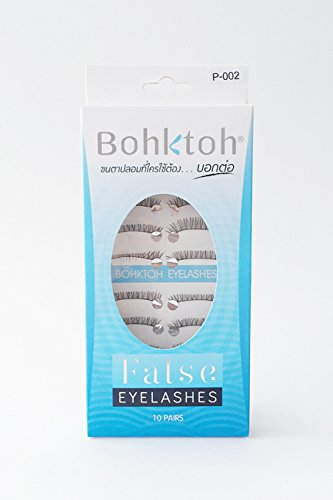 10 Pairs Bohktoh False Lashes Boya P-002 (Revlon Heated Eyelash Curler compare prices)