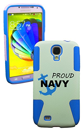 Phonetatoos (Tm) For Galaxy S4 Proud Navy Plastic & Silicone Case- Lifetime Warranty (Baby Blue)
