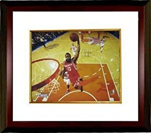 James Harden signed Houston Rockets 16X20 Photo Custom Framed- Steiner Hologram