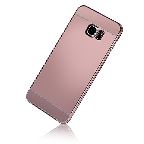 sannysis-for-samsung-galaxy-s6-edge-plusluxus-metallrahmen-pc-spiegel-kasten-rose-gold