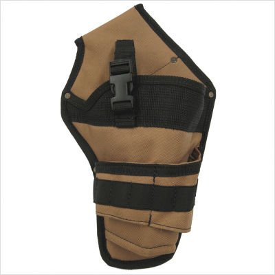 Style N Craft 76-101 Cordless Drill Holster In 600D Khaki/Black Polyester front-1031881