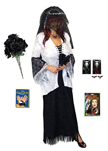 Ghost Zombie Bride Plus Size Supersize Halloween Costume Deluxe No Wig Kit