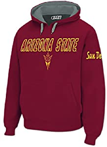 Arizona State Sun Devils Mens Maroon Embroidered Combo Hooded Sweatshirt by E5