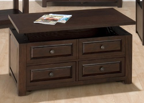 Jofran Ogden Lift-Top Coffee Table  2 Pull-Through
