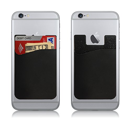 Cardbuddy stick on card holder wallet credit card phone for Iphone business card holder