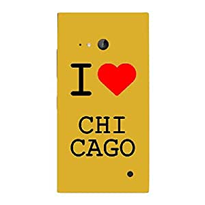 Skin4gadgets I love Chicago Colour - White Phone Skin for LUMIA 730 (ONLY BACK)