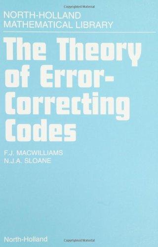 The theory of error correcting codes
