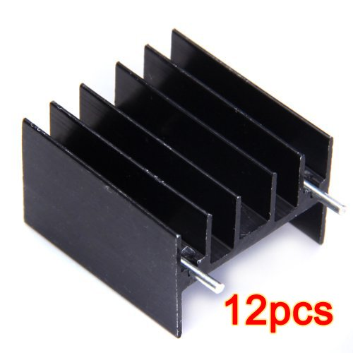 12pcs dissipateur de chaleur en aluminium pour TO220 L298N