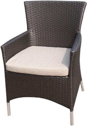 ambientehome 63816 sessel tunis ii f e edelstahl look polyrattan gold braun sessel g nstig. Black Bedroom Furniture Sets. Home Design Ideas