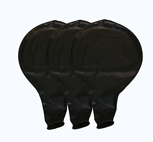 36 Inch Latex Balloon Black Premium Helium Quality 3 per pack