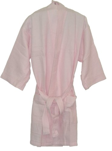 Monogrammed Bathrobes, For Bridesmaids Gifts, Cotton Waffle, Light Pink front-875146