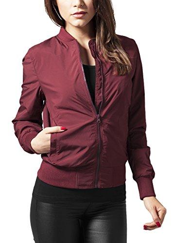 Urban Classics Ladies Light Bomber Jacket, Giacca Donna, Rot (Burgundy 606), 40