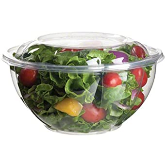 Eco-Products EP-SB32 Plant-Based Plastic Renewable and Compostable Salad Bowl with Lid,... by Eco-Products