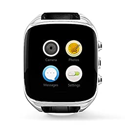 IMACWEAR M8 Bluetooth Smart Watch with Camera Heart Rate Support SIM TF Card for Android Phones (Silver)
