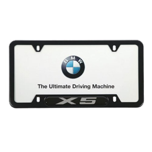 Bow Tie CHEVROLET 3D Emblem CHEVY Black Stainless Steel License Plate Frame
