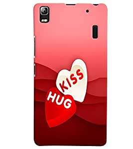 PRINTVISA Abstract Love Case Cover for Lenovo A7000