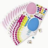 12 Make an EASTER EGG Sticker SHEETS/Basket Filler/COLORFUL Craft ACTIVITY/Dozen STICKERS