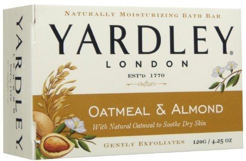 Yardley of London Naturally Moisturizing Bath Bar - 4.25 Oz Bar (Pack of 8) (Oatmeal & Almond) by Yardley