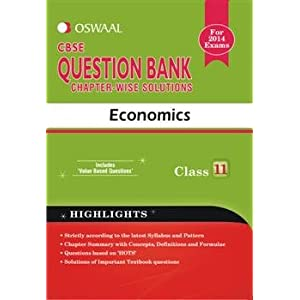 Oswaal CBSE Question Bank chapter-wise solutions, Economics for Class 11