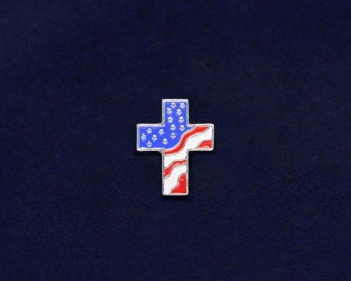American Flag Cross Tac Pin (50 Pins)