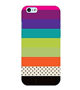 horizontal stripped multicoloured pattern 3D Hard Polycarbonate Designer Back Case Cover for Apple iPhone 5S